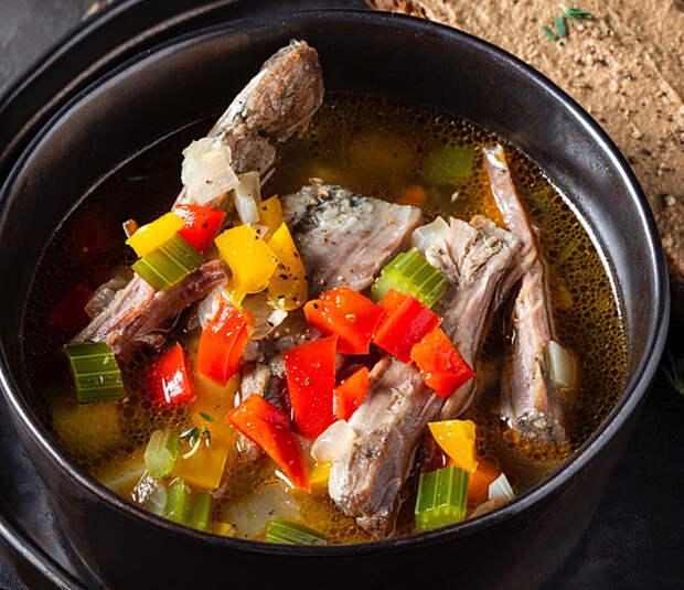 Суп из бараньих ребрышек: просто и очень вкусно