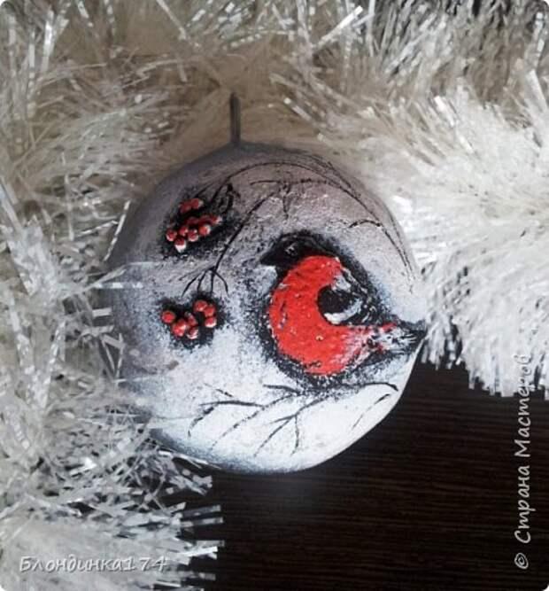 Игрушка Мастер-класс Новый год Папье-маше Готовимся к Новому году   Бумага Клей Краска фото 2