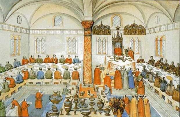 Царские застолья на Руси: Как устраивали пиры, и что происходило с обжорами и выпивохами