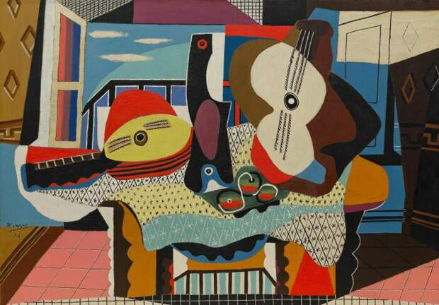 Мандолина и гитара, Пабло Пикассо, 1924 год. \ Фото: pinterest.es.