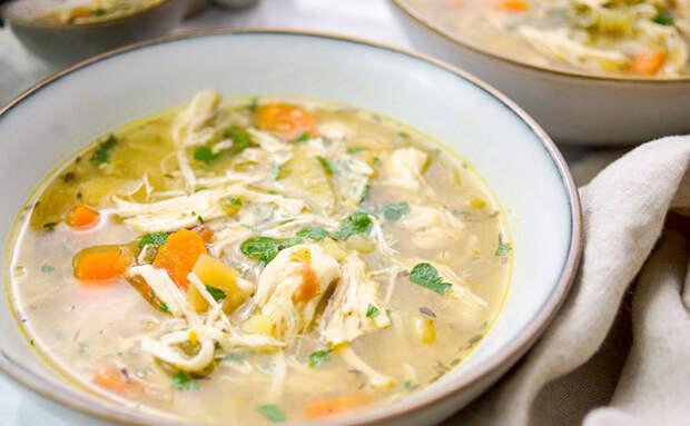 Пряный согревающий суп из курицы без затрат. Делаем из голеней и обходимся без лапши