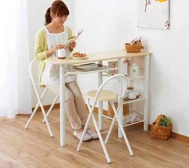 высокий стол на кухне фото