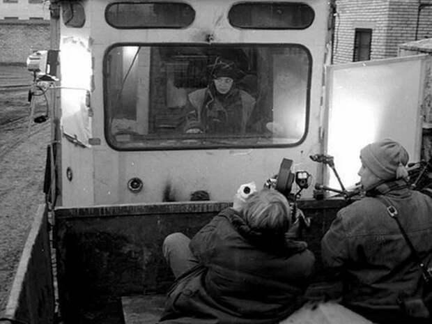 "На съёмке фильма ""Брат"", Санкт-Петербург, 1997 год"