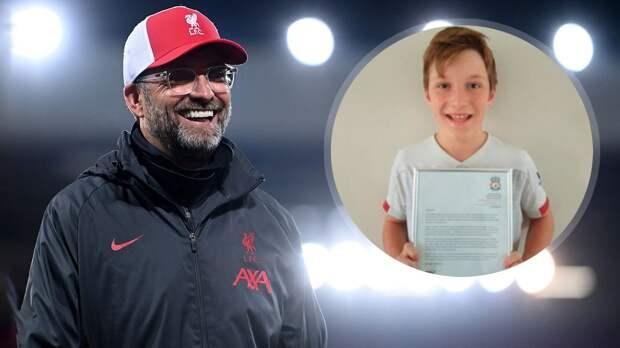 Клопп написал трогательное письмо 11-летнему болельщику «Ливерпуля», который не мог справиться с тревогой