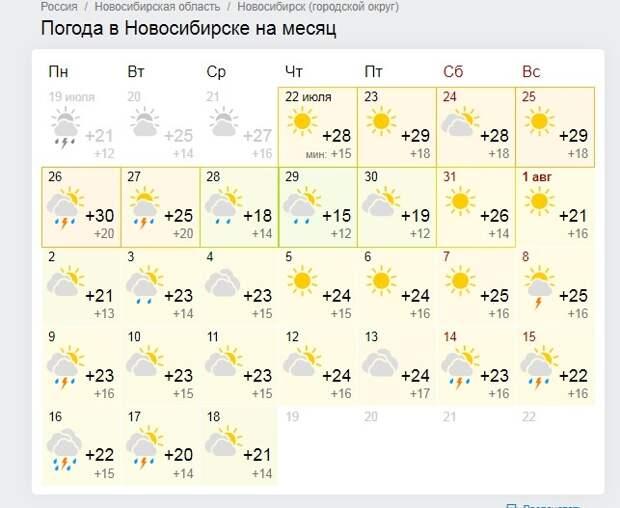 Грозы или зной? Каким будет август-2021 в Новосибирске — изучаем прогнозы