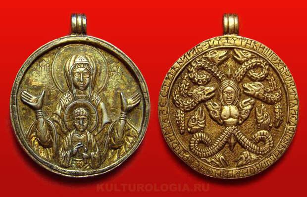 Таинственные иконки-змеевики: О происхождении змеевидных композиций на Древнерусских образках