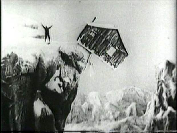 Кадр из фильма «Золотая лихорадка», где использован один из приемов комбинированной съемки - Блуждающая маска. /Фото: wikipedia.org