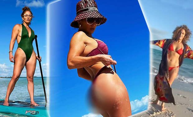 Дженнифер Лопес продемонстрировала идеальную фигуру в откровенном купальнике