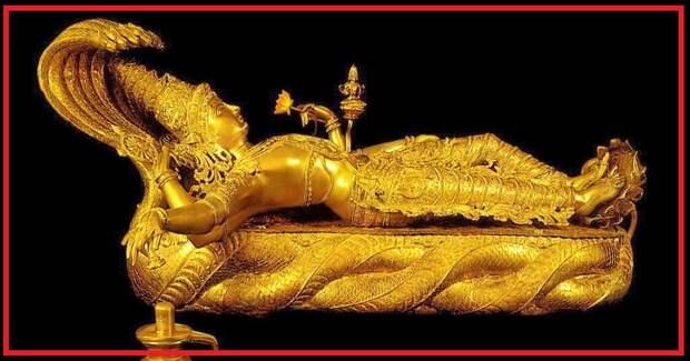Тайны скрытых от людей палат в храме Падманабхасвами в Индии