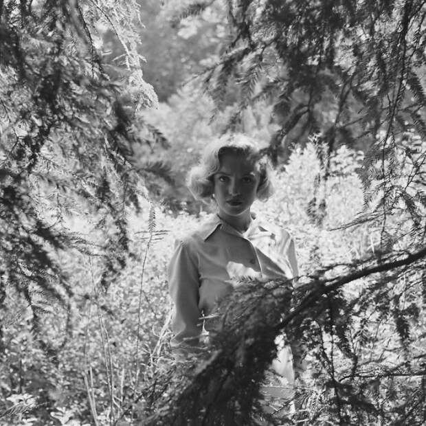 Фотосессия в лесу неизвестной на тот момент Мэрилин Монро.