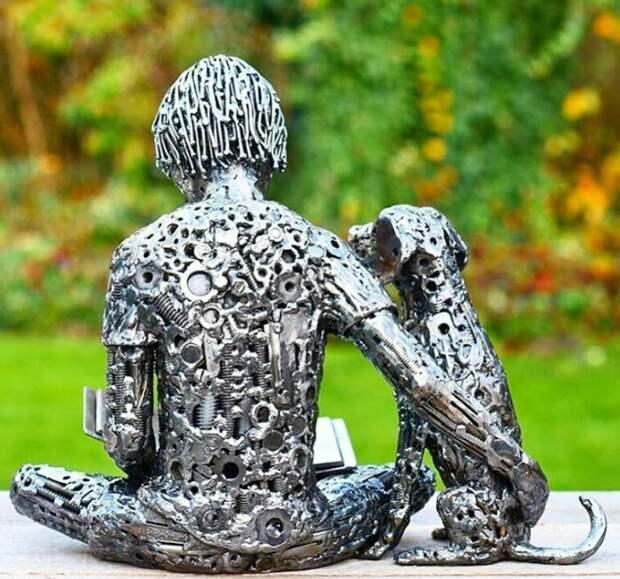 Что-то новое из чего-то старого: необычные скульптуры из металлического мусора