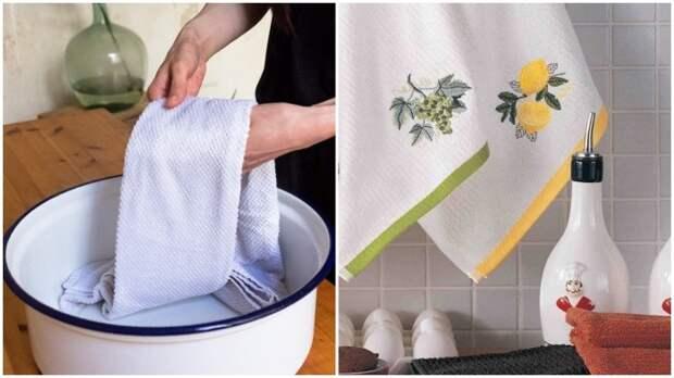 Зачем добавлять растительное масло при стирке кухонных полотенец