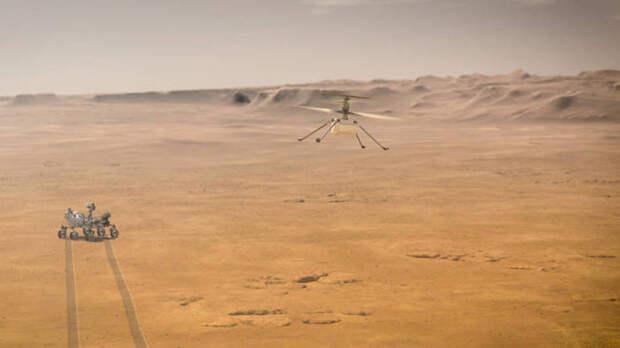 Состоялся первый полет марсианского вертолета Ingenuity