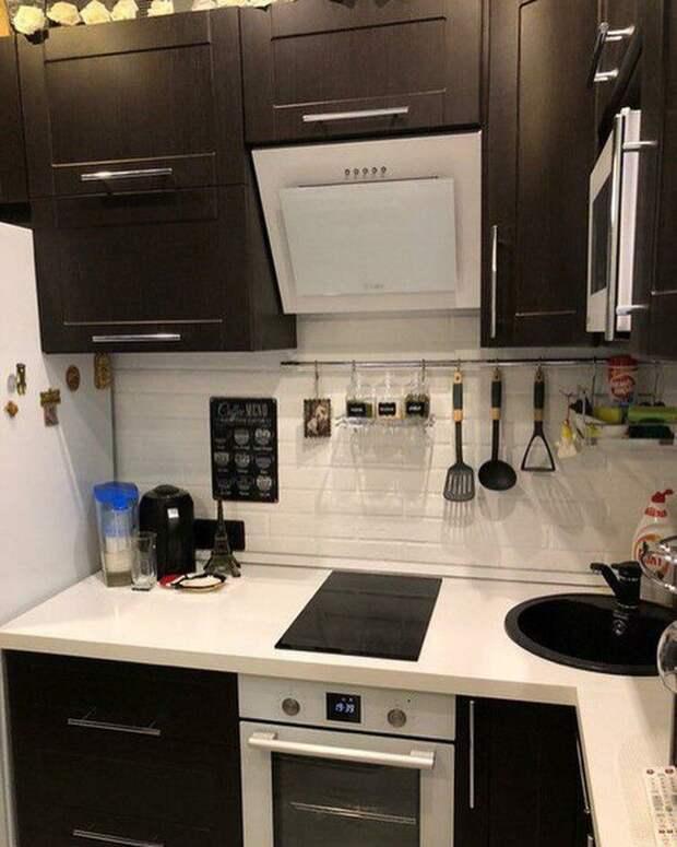 Успели к Новому году закончить ремонт на кухне (5,8 м2) – вышло даже лучше, чем думали