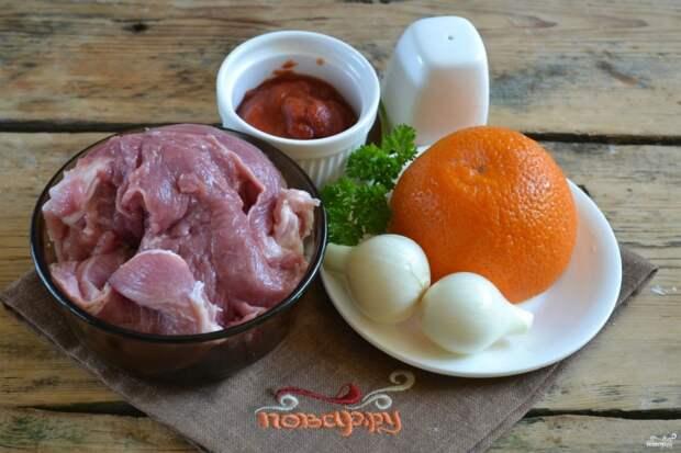 Свинина под сладким соусом