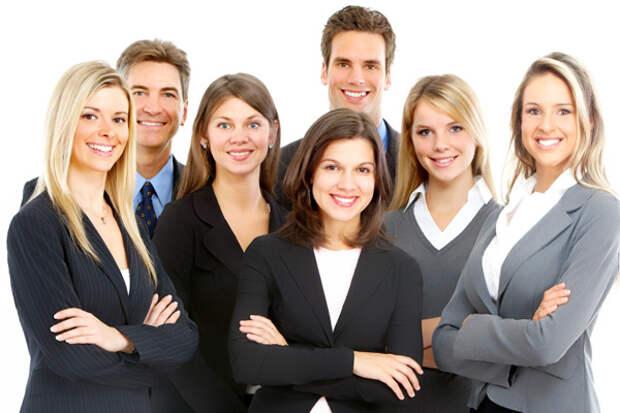 Формальные снимки группы людей