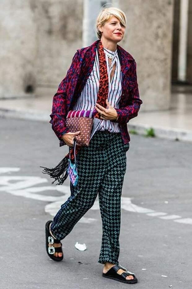 Как модно сочетать принты, чтобы не выглядеть нелепо