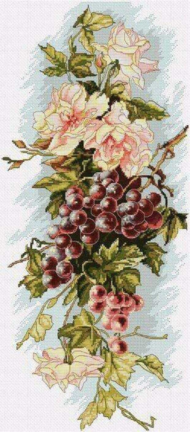 Цветы с виноградом