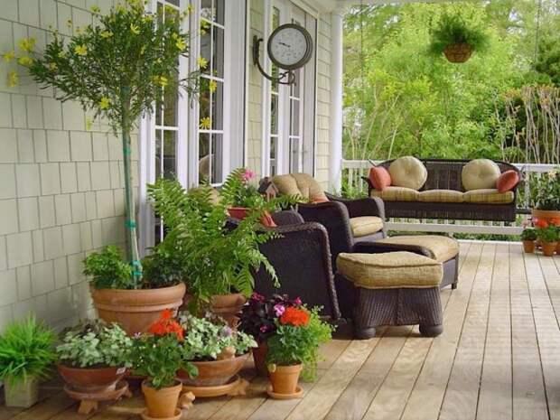 На пике популярности сегодня флористический стиль оформления зоны отдыха