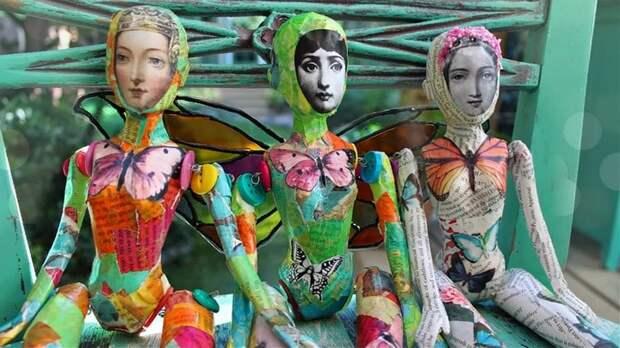 Крутая переделка ненужных кукол Барби в фантастический арт-декор для интерьера