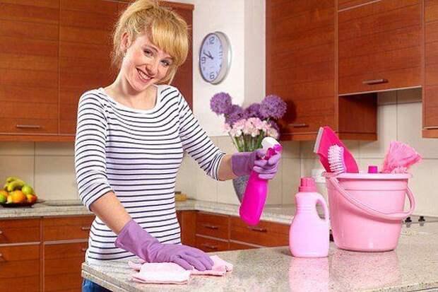 Как поддерживать на кухне чистоту, не используя средства с химией?