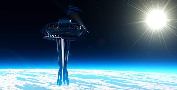 Выяснилось, каким инженеры представляют себе лифт с Земли на орбиту