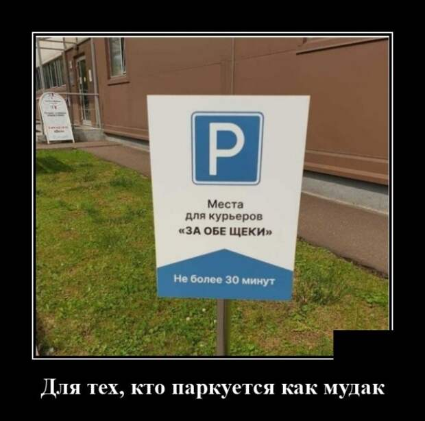 Демотиватор про парковку автомобилей