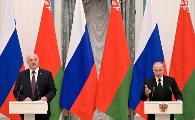 Президенты России и Белоруссии подписали 28 дорожных карт по объединению экономик двух стран
