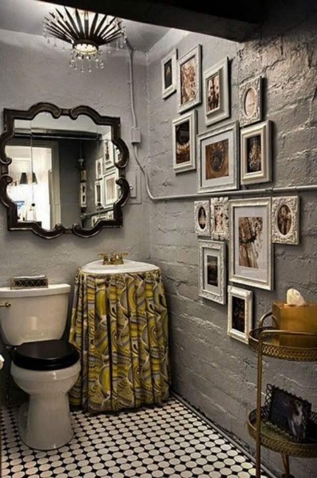 картинная галерея в туалете