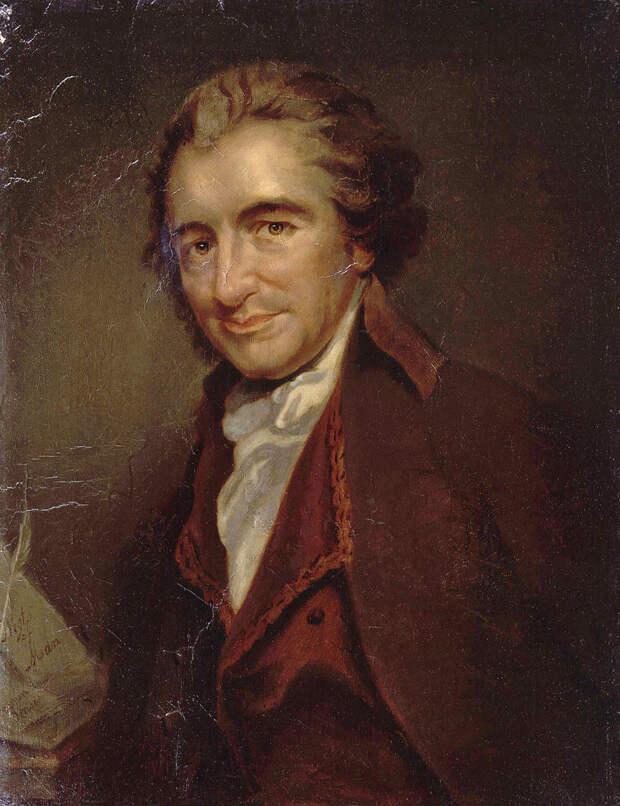 """Том Пейн, """"крёстный отец"""" Американской революции, участник Великой Французской."""
