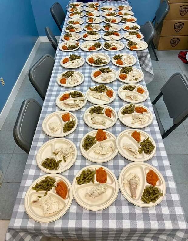 На День благодарения семейная пара приготовила для животных из приюта 80 отдельных обедов