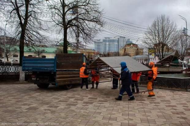 В Рязани продолжаются работы по благоустройству