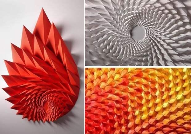 Инженер создает избумаги геометрические картины игифки, откоторых глаза сходят сума