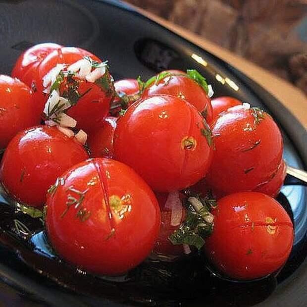 От таких малосольных помидоров с чесночком никто не откажется