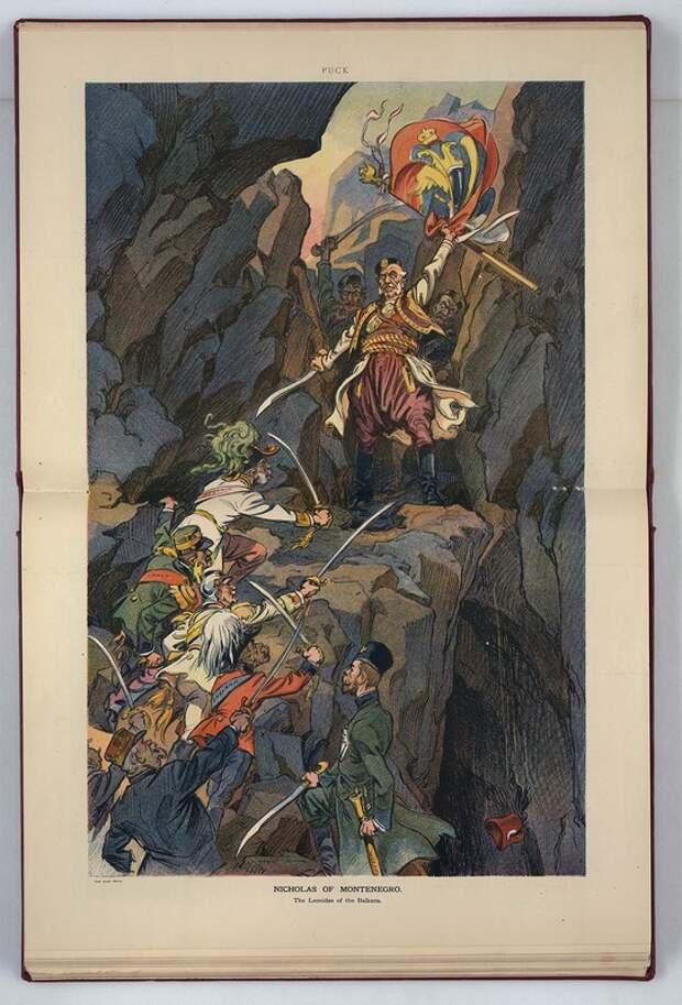 Николай Черногорский. Карикатура периода Балканской войны