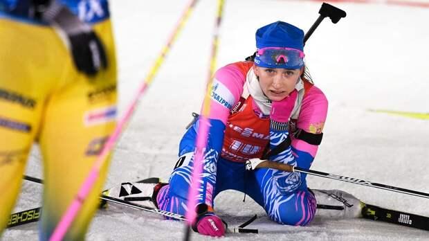 Проблемы с нервами лишили русскую биатлонистку победы на Кубке мира