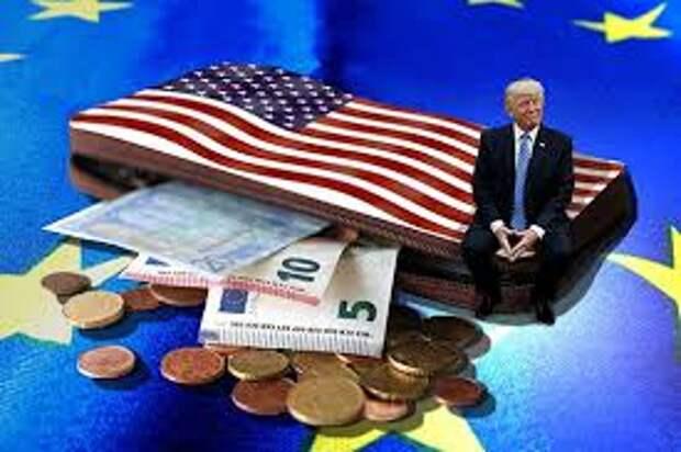 США продолжают принуждать ЕС, ФРГ принять американские торговые условия в противовес торговым интересам и договоренностям стран ЕС с РФ