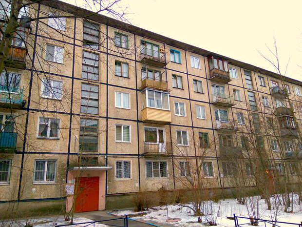 """Типовой дом времён СССР,  так называемая """"брежневка"""""""
