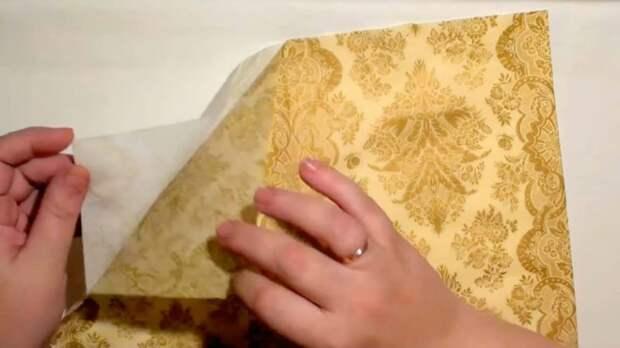 Секретный метод, как приклеить салфетку без складок в декупаже