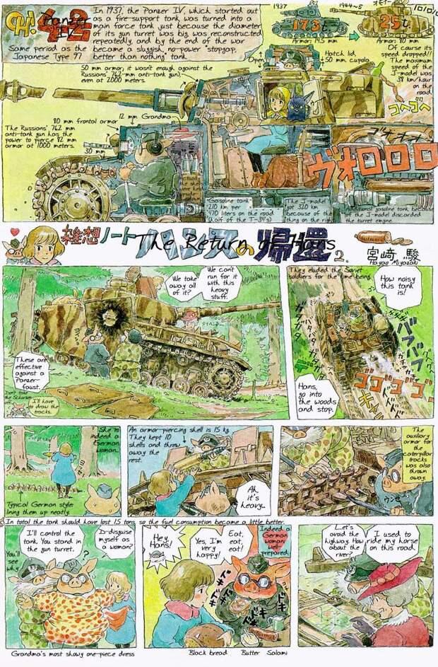 Едва ли не самая известная из «заметок» Миядзаки — трагикомедия о немецких танкистах Второй мировой «Возвращение Ганса» - «Лучше быть свиньёй, чем фашистом»   Warspot.ru