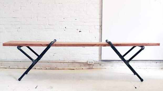 Стол из труб