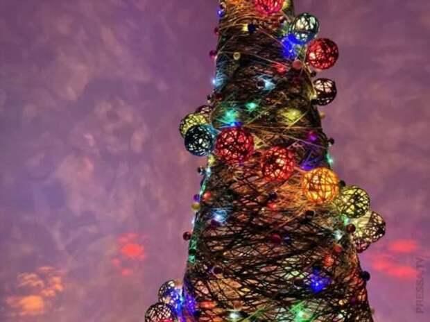 Оригинальная новогодняя елочка своими руками