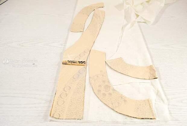 Выкроить прокладки для деталей из клеевой ткани