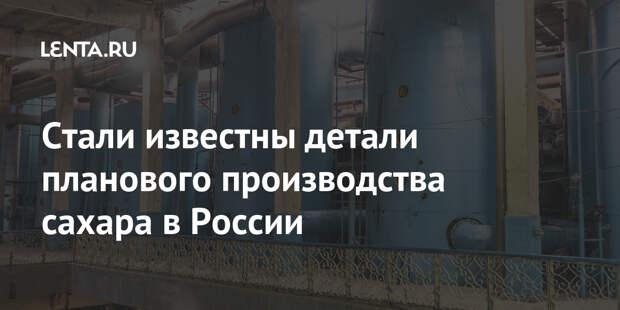 Стали известны детали планового производства сахара в России