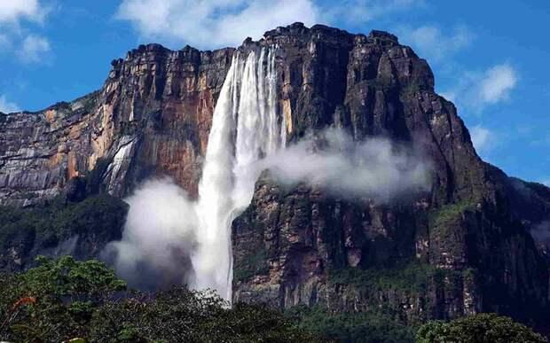 Водопады, в которых вода течет наоборот