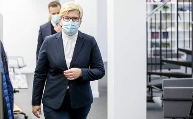 На фото: премьер-министр Литвы Ингрида Шимоните