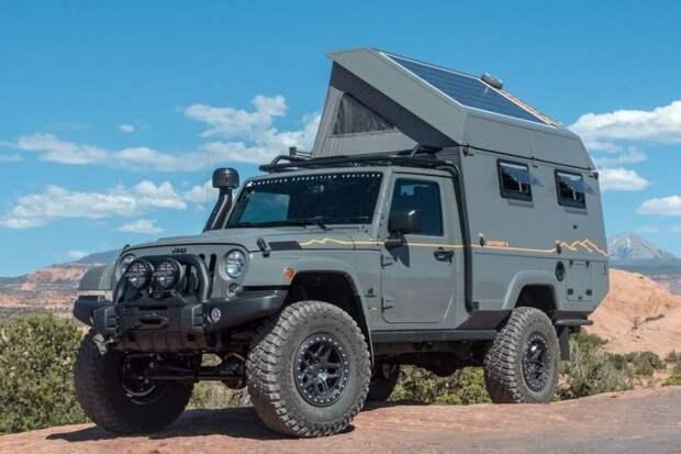 Дом на колесах повышенной проходимости из внедорожника Jeep Wrangler Wrangler, jeep, jeep wrangler, авто, автомобили, внедорожник, дом на колесах, кемпер