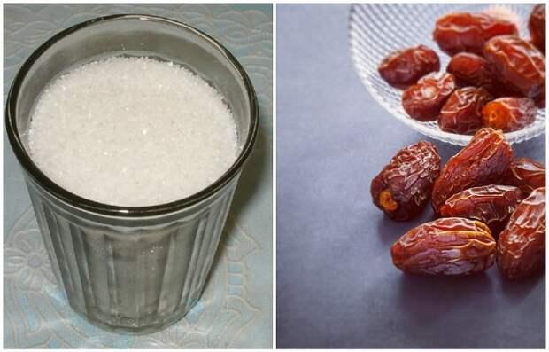 Чтобы инжир не слипся, перемешайте его с сахаром