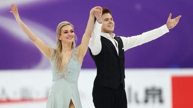Синицина и Кацалапов выиграли ритм-танец на командном чемпионате мира в Осаке