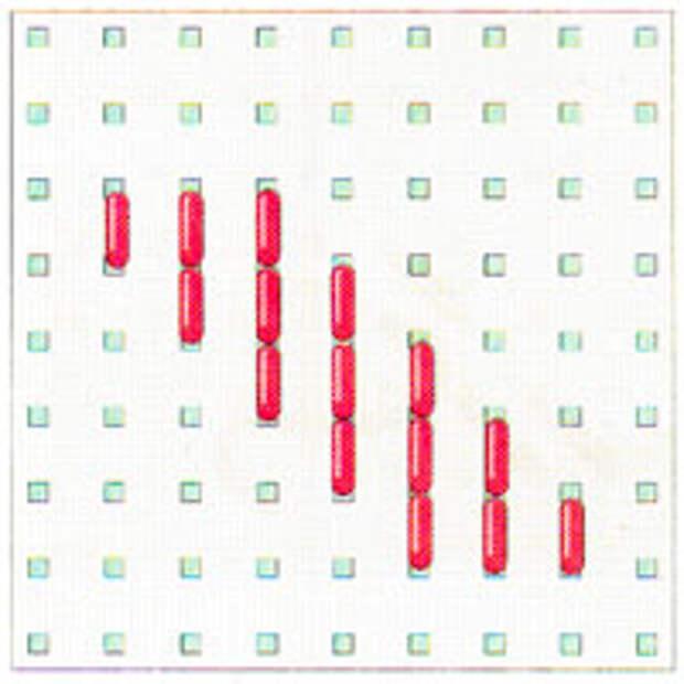 Вышивка крестиком по диагонали. Двойная диагональ слева направо (фото 15)